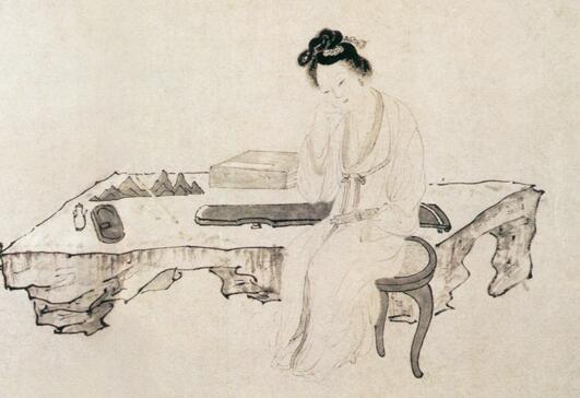吴伟人物画《武陵春图》作品欣赏