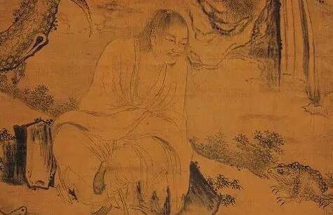 吴伟人物画《画刘海蟾》作品欣赏