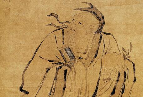 吴伟人物画《东方朔偷桃》作品欣赏
