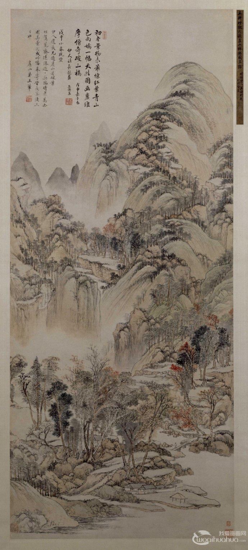 作,也是他描绘家乡美景的写生精品,山水法取黄公望笔意,略作变化
