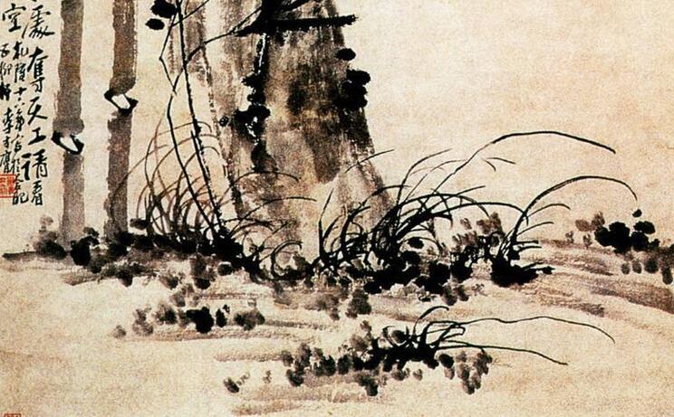 李方膺花鸟画《潇湘风竹图》作品欣赏