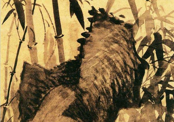 罗聘花鸟画《竹石图》作品欣赏