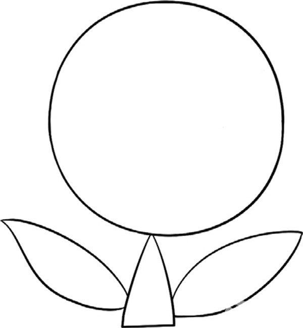 趣味简笔画纯洁的百合花绘画步骤三