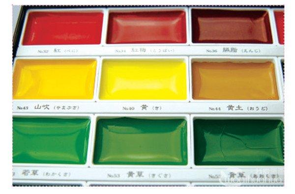 常见水彩工具水彩颜料