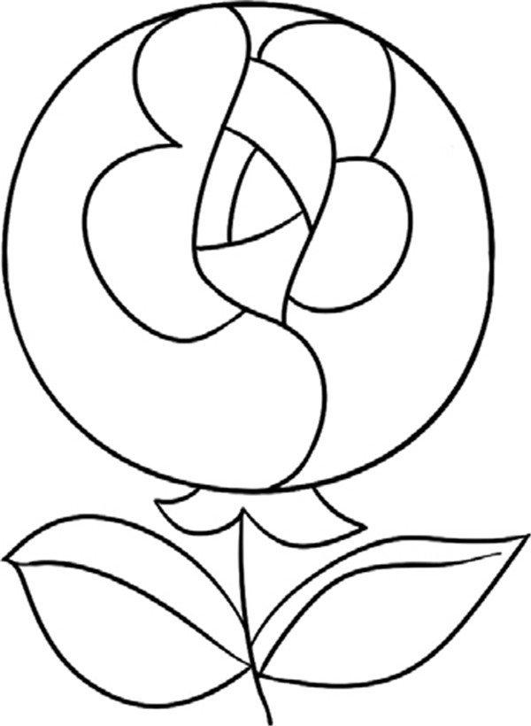 简笔画玫瑰花叶子