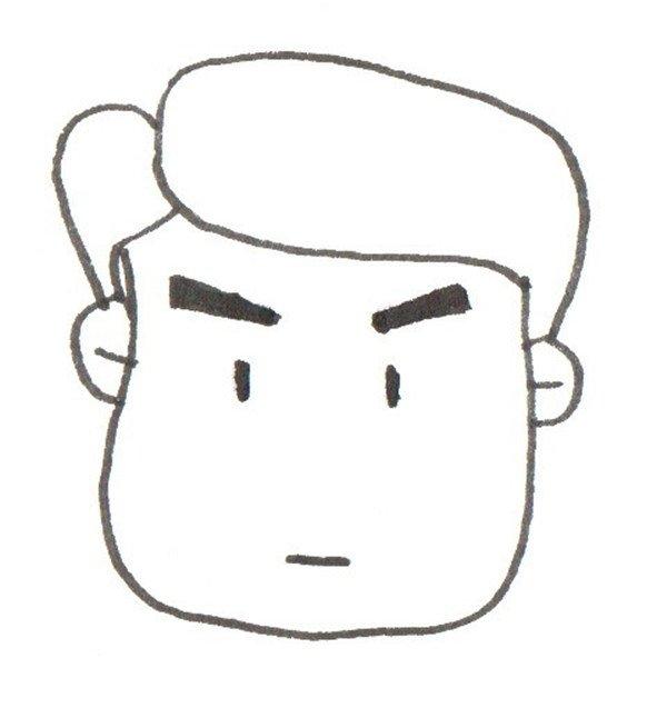 卡通画爸爸的头图片