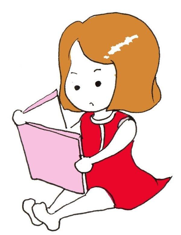 妹妹怎么画_卡通画妹妹爱学习