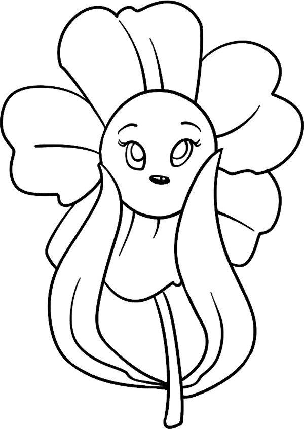 趣味简笔画害羞的花儿 4