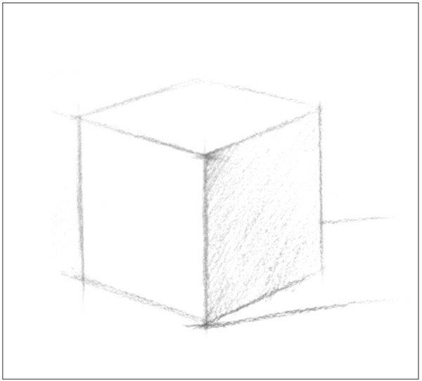 学画画 素描教程 素描石膏像 > 素描正方体的绘画技巧(2)