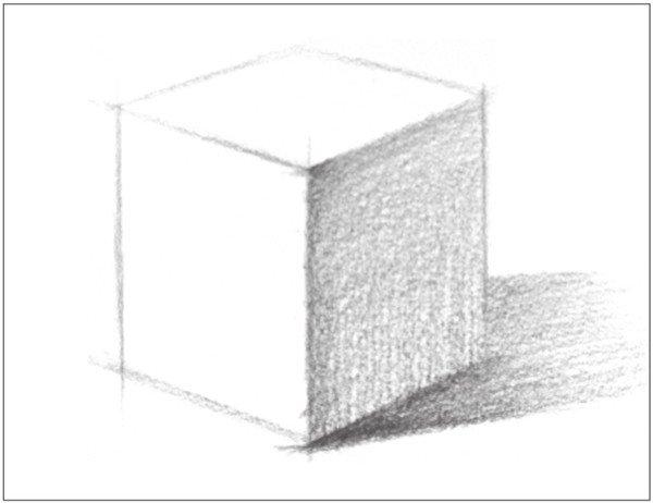 学画画 素描教程 素描石膏像 > 素描正方体的绘画技巧(2)      3,使用