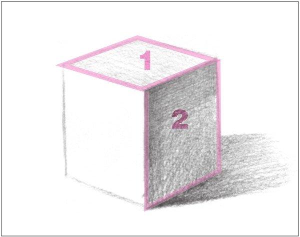 几何体素描之正方体绘画步骤七