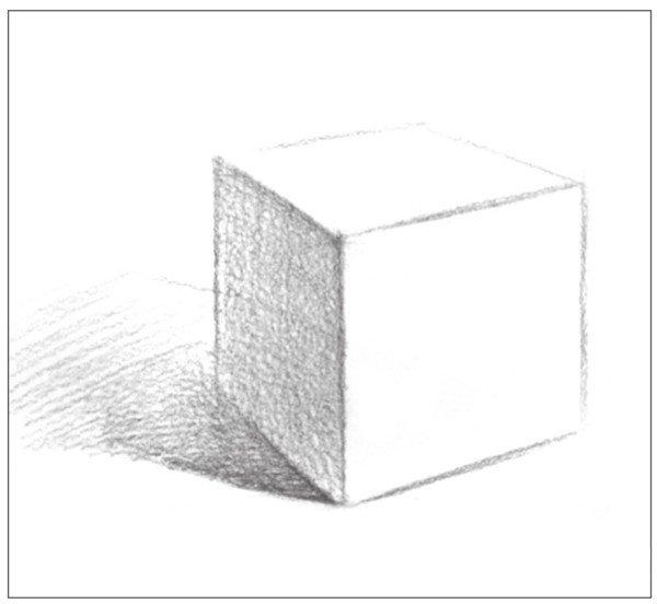 几何体素描之正方体绘画步骤四
