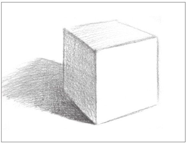 几何体素描之正方体绘画步骤五