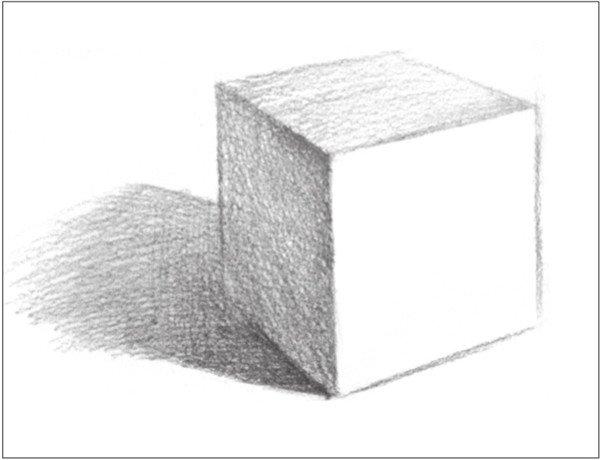 几何体素描之正方体绘画步骤六