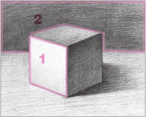 几何体素描之正方体绘画步骤十-素描正方体的绘画技巧 4图片
