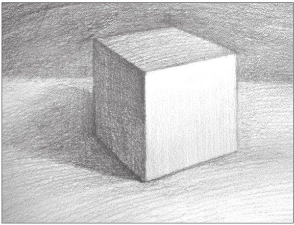 几何体素描之正方体绘画步骤九