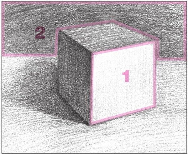几何体素描之正方体绘画步骤十