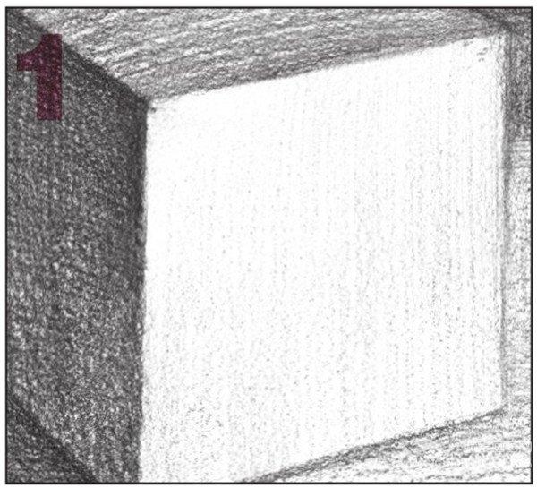 素描正方体的绘画技巧 9图片