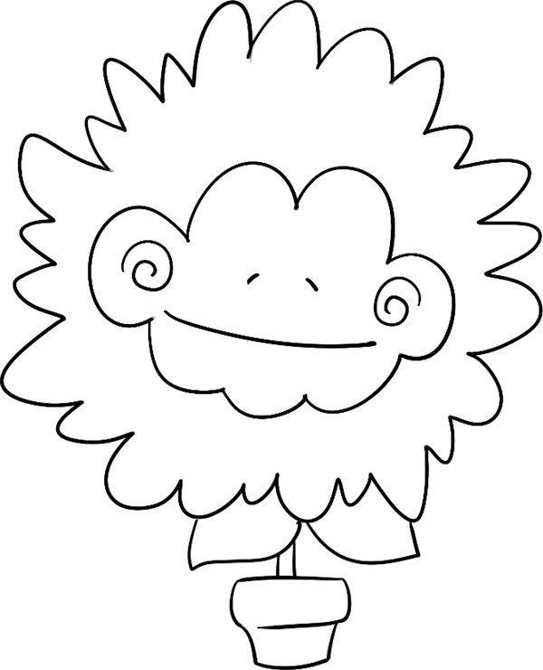 趣味简笔画盆栽菊花的绘画教程(4)