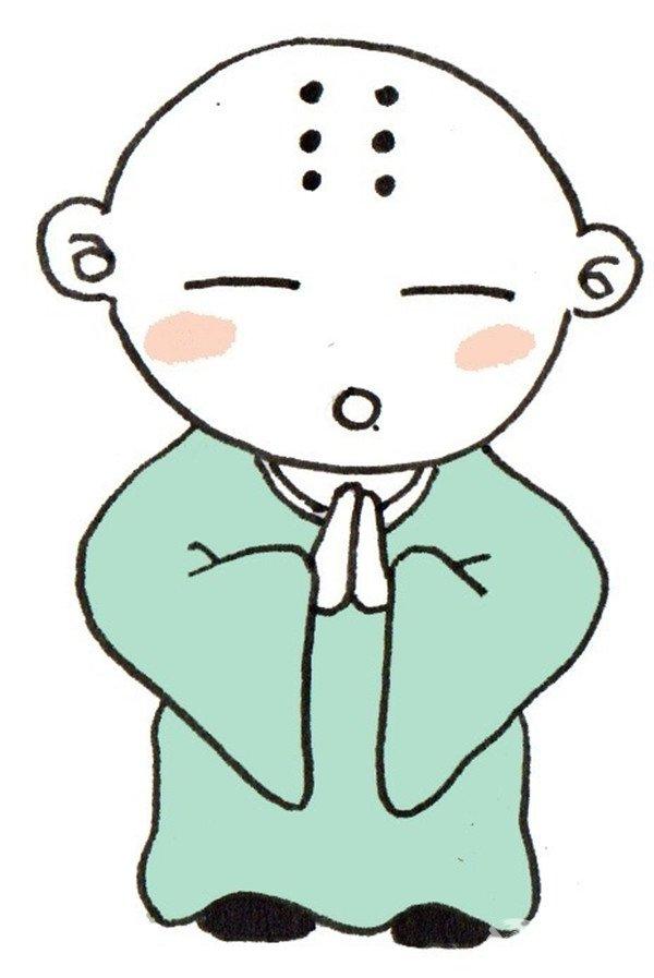 卡通人物小和尚的绘画教程(4)
