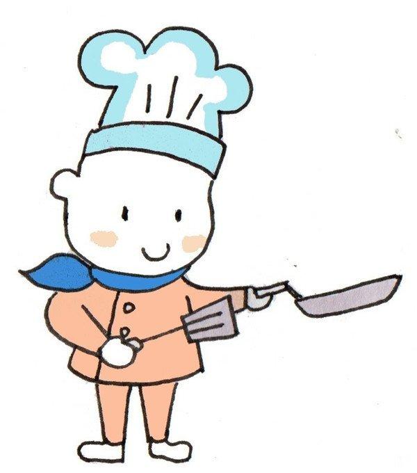 卡通人物画厨师的绘画步骤(5)_儿童画教程_学画画_我
