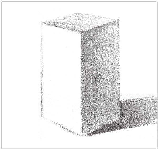 素描长方体的绘画步骤(2)