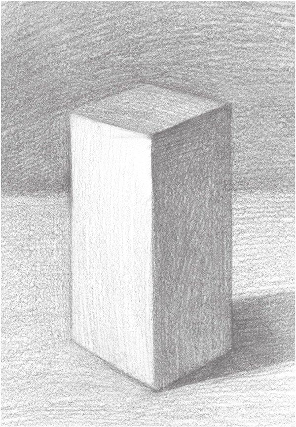 学画画 素描教程 素描石膏像 > 素描长方体的绘画步骤      长方体有
