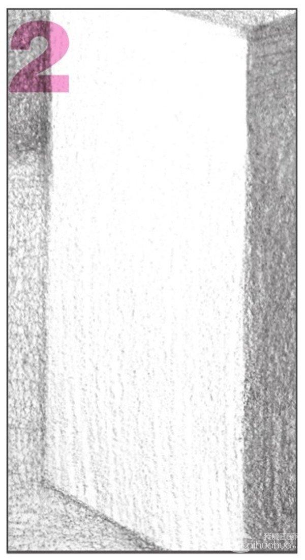 出画面的整体调子。注意调子的排线密度。  几何体素描之长方体的绘画步骤八 9、使用2B铅笔,对长方体的亮面、灰面进行深入刻画。  几何体素描之长方体的绘画步骤九 10、使用2B铅笔,对画面进行整体塑造,拉开黑白灰对比。  几何体素描之长方体的绘画步骤十 加强刻画长方体的暗面与灰面,增强长方体的立体感与质感。  几何体素描之长方体的绘画步骤十-1 使用2B铅笔,细致刻画长方体的亮面,使其层次感更强 。  几何体素描之长方体的绘画步骤十-2