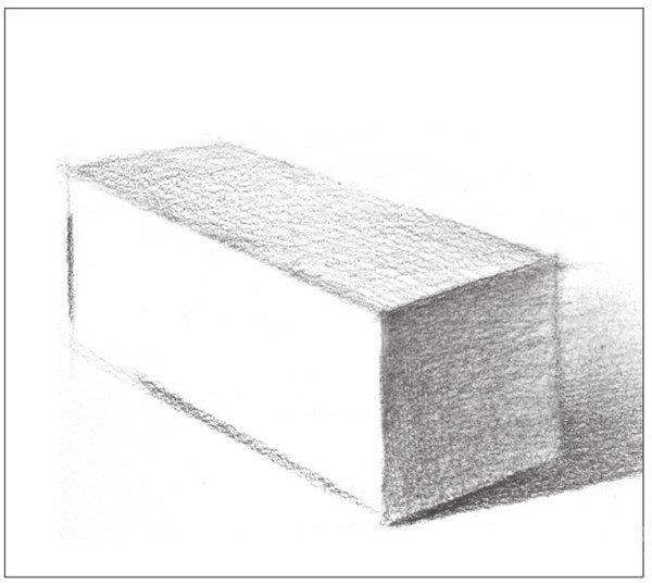 素描长方体的绘画步骤 6图片