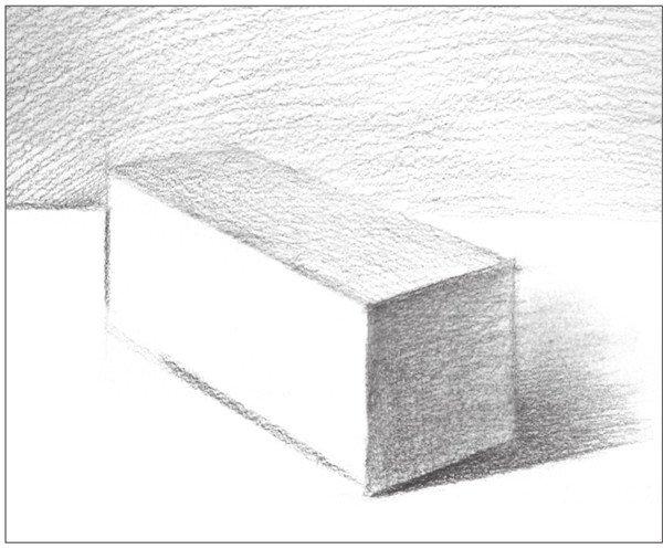 素描长方体的绘画步骤(6)