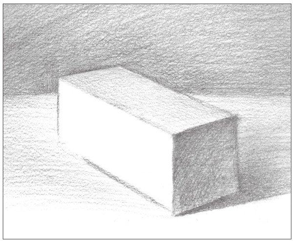几何体素描之长方体的绘画步骤八
