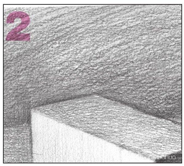 北京画室_素描长方体的绘画步骤
