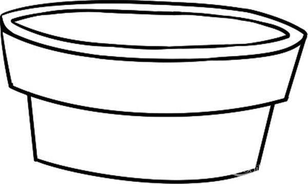 简笔画食人草花盆