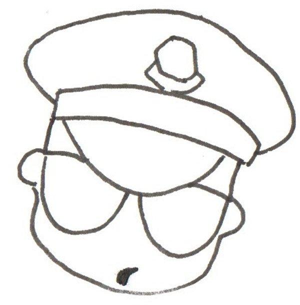 卡通人物画警察的绘画教程(2)_儿童画教程_学画画_我