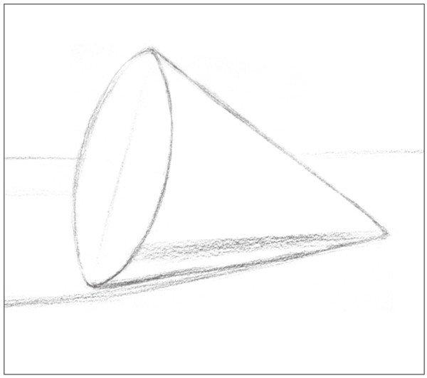 素描圆锥体的绘画步骤(6)