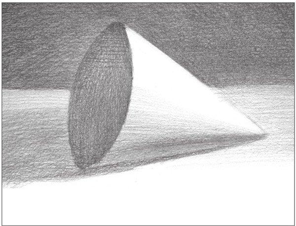 素描圆锥体的绘画步骤(7)_素描教程_学画画_我爱画画网