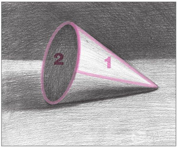 几何体素描之圆锥体绘画步骤十-素描圆锥体的绘画步骤 8