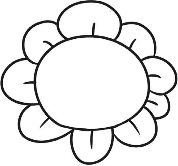 趣味简笔画开朗的向日葵(2)_儿童画教程_学画画_我爱