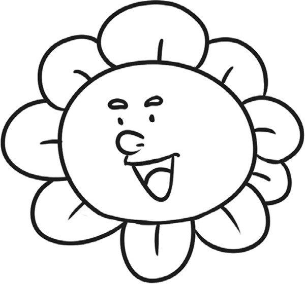 趣味简笔画:开朗的向日葵绘画步骤三-趣味简笔画开朗的向日葵 3