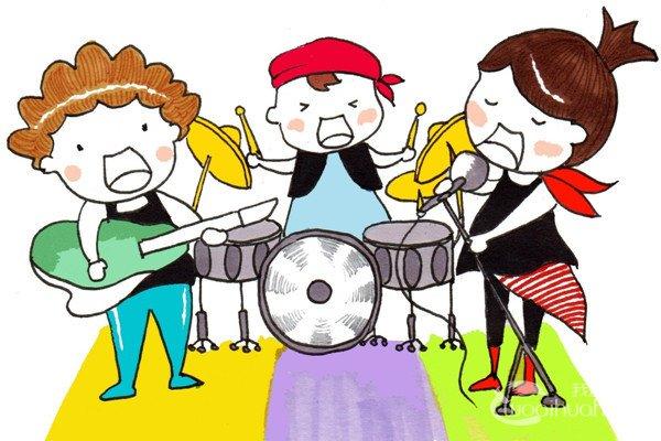 卡通人物画乐队组合的绘画技法
