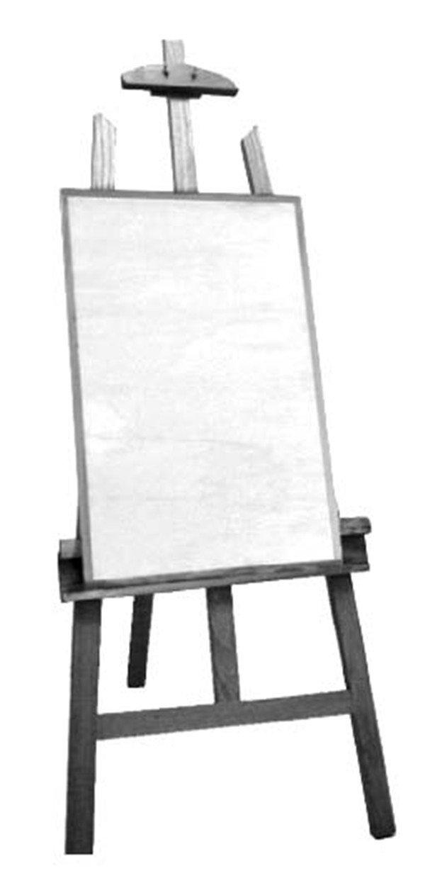 的画架,更是结构复杂,功能齐全。  木制画架 1、木制画架主要是靠后面两只腿来支撑画板的,整开、对开、四开画板都能稳重地架在上面。  素描工具用法:木制画架的用法步骤一 2、支撑画板还有个重要的地方是下面的扣槽,它将画板的另一端牢牢地扣紧槽内。  素描工具用法:木制画架的用法步骤二