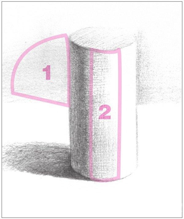 素描圆柱体的绘画步骤 3图片