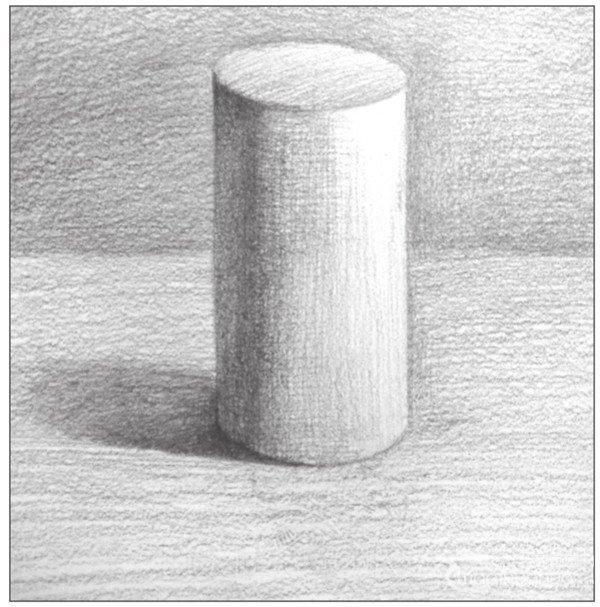 北京画室_素描圆柱体的绘画步骤