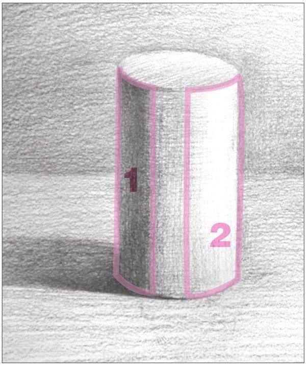 素描圆柱体的绘画步骤 4图片