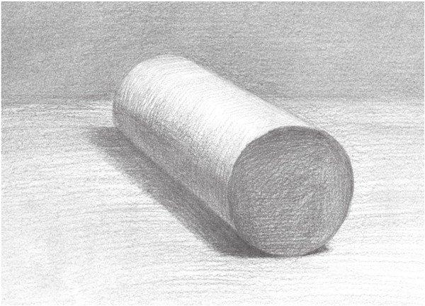 素描圆柱体的绘画步骤(5)