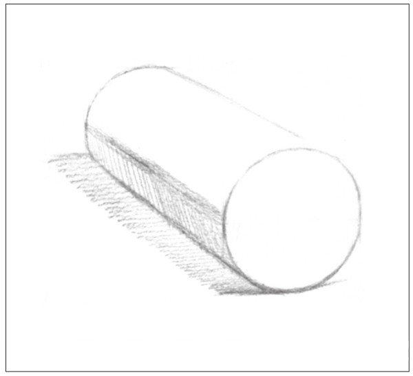 素描圆柱体的绘画步骤 6图片