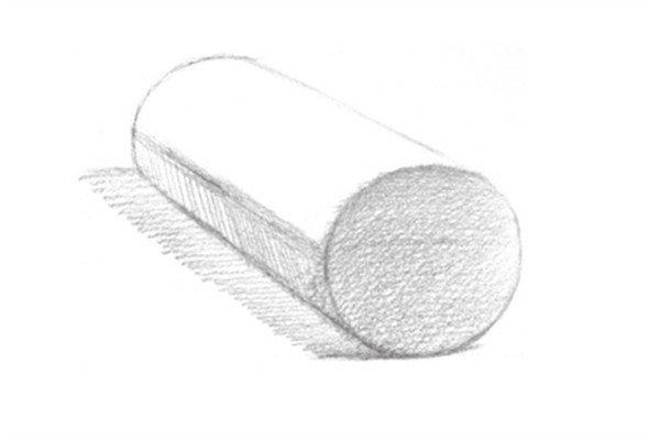 素描圆柱体的绘画步骤