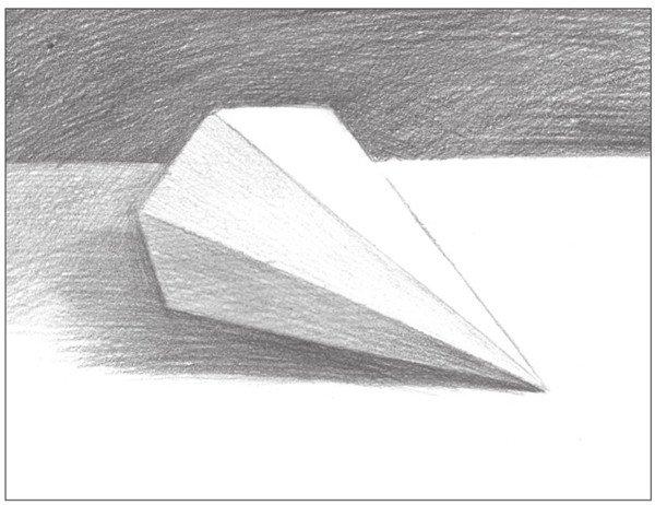 素描六棱锥绘画步骤8