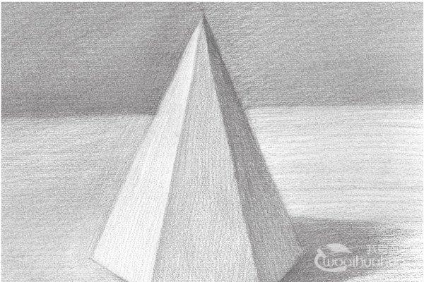 素描六棱锥的绘画教程