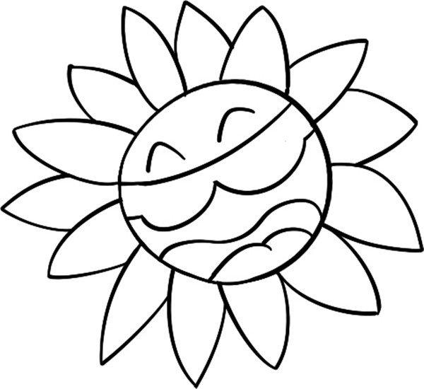 趣味简笔画:弹吉他的花儿绘画步骤二